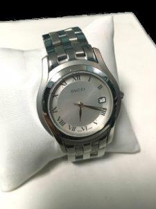 gucci stainless midsize quartz watch
