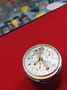 tag heuer chronograph aquaracer dial
