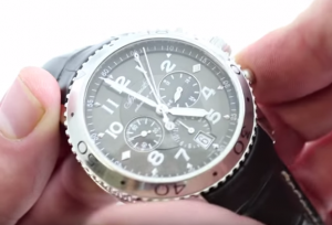 breguet mens chronograph black dial