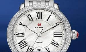 michele mw watch with diamonds