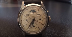 universal geneve manual wind complication chronograph with moonphase