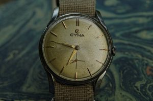 cyma mens manual wind watch