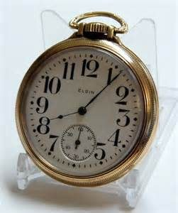 elgin vintage railroad pocket watch