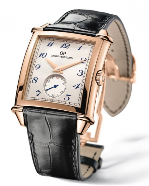 girard perregaux mens gold watch