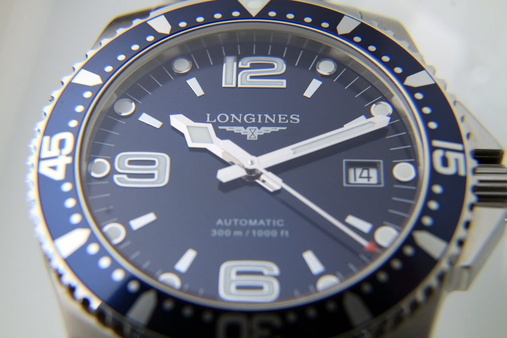 longines blue face automatic mens watch