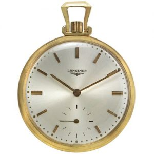 longines gold pocket watch