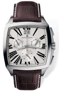maurice lacroix chronograph stainless steel watch