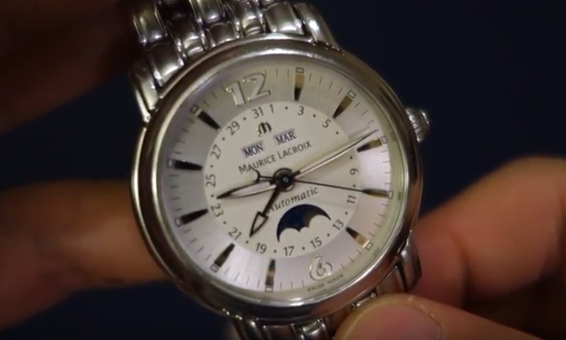 Maurice LaCroix Gents Moonphase Automatic Watch