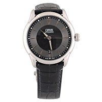 oris automatic stainless watch with black face