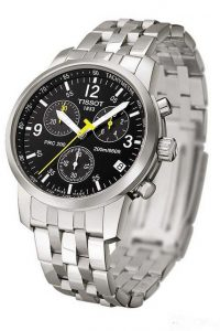 tissot black chronograph stainless