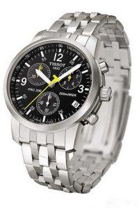 tissot black chronograph stainless
