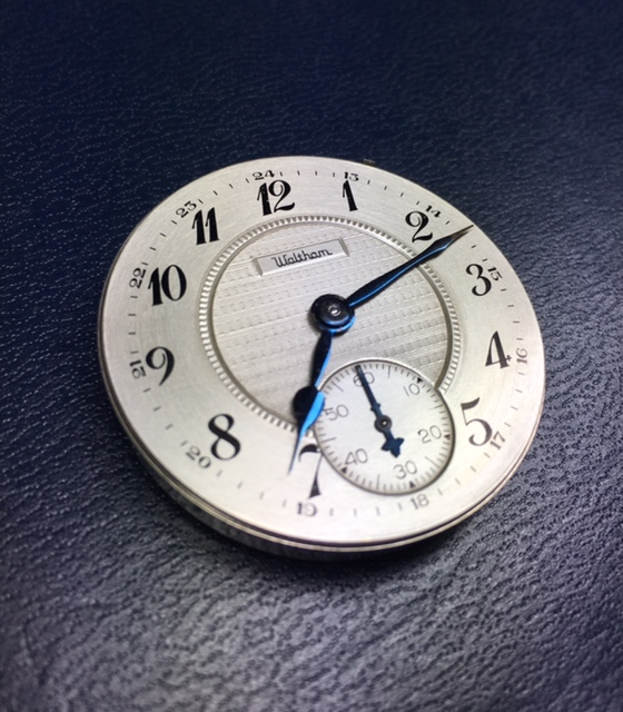 waltham pocket dial watch