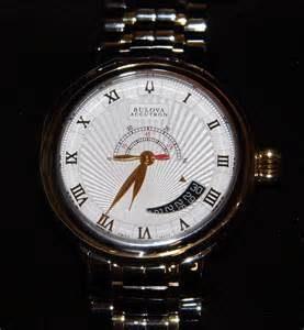 bulova accutron two tone timepiece