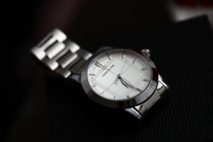 montblanc white dial mens watch