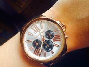 michael kors chronograph watch in gold