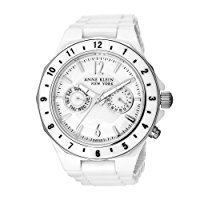 Anne Klein chronograph mother of pearl dial