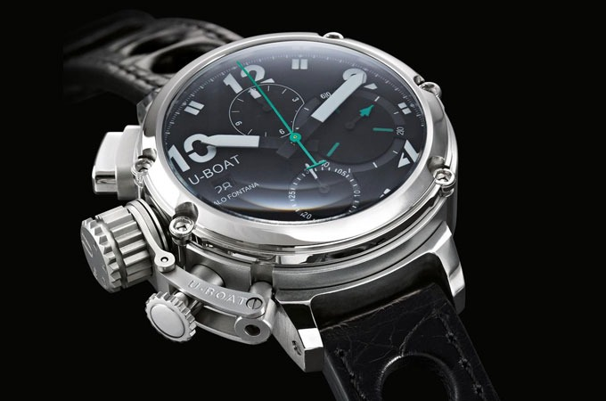 uboat chronograph big face watch